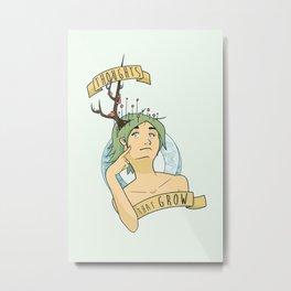 Growing Thoughts Metal Print