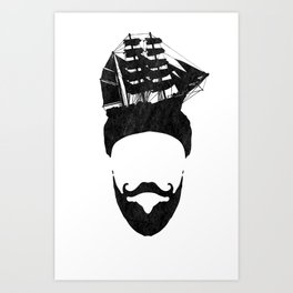 Ship Head Art Print