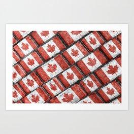 Canadian Flag Motif Pattern Art Print