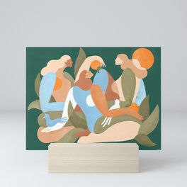 Time with friends is time well spent Mini Art Print