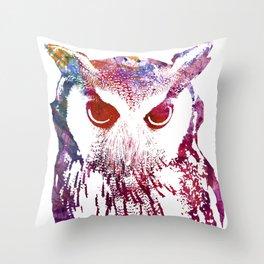 Street Wise Owl Throw Pillow