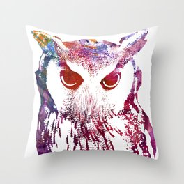 Street Wise Owl Throw Pillow
