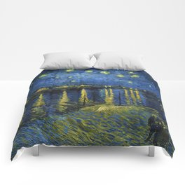 Starry Night on the Rhone by Vincent van Gogh (Sept. 1888) Comforters