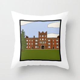 Cambridge struggles: Jesus College Throw Pillow