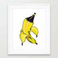 banana Framed Art Prints featuring Banana  by Gaby Yerden