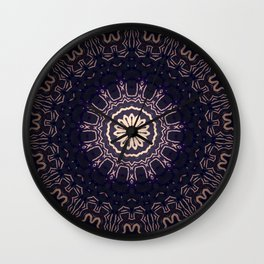Black Dahlia // Visionary Art Mandala Healing Energy Meditation Yoga Bohemian Gypsy Free Spirit Wall Clock
