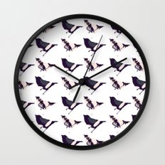 Pink and Purple Birds Wall Clock