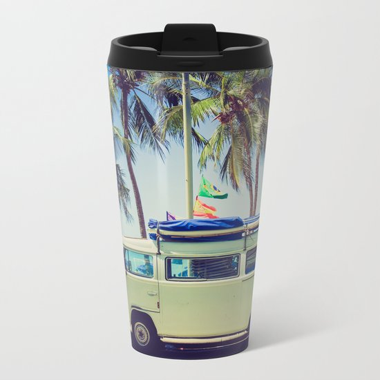 Camper beach 5 Metal Travel Mug