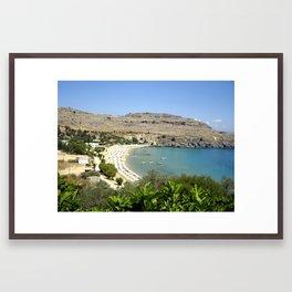 Rhodes, Greece Beach  Framed Art Print