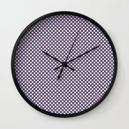 Loganberry and White Polka Dots Wall Clock