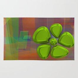 FLOWER 2 GREEN Rug