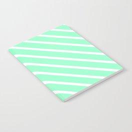 Mint Julep #2 Diagonal Stripes Notebook