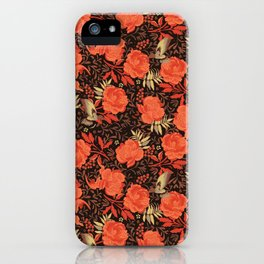 Art nouveau florals iPhone Case