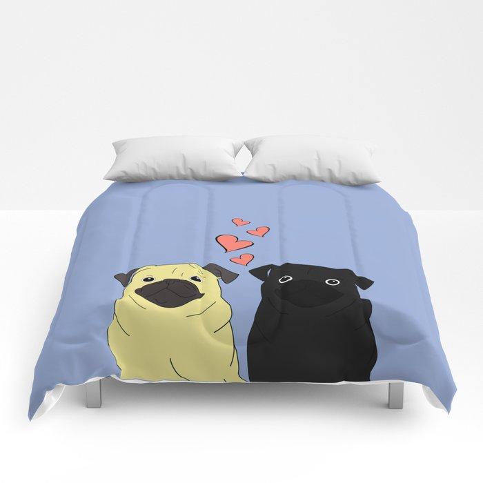 Pantone Pugs Comforters