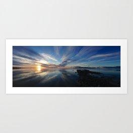 Sunset on the Great Salt Lake Art Print