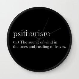 psithurism Wall Clock