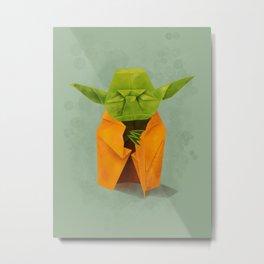 Yoda origami Metal Print
