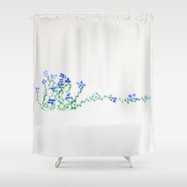 Ella's Forget-Me-Nots Shower Curtain