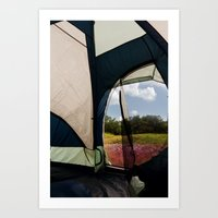 camping Art Prints featuring Camping by Jessica Krzywicki