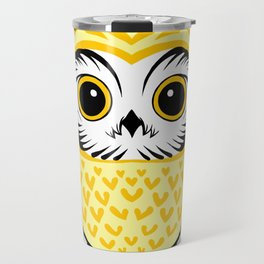 Yellow Fukuro Daruma Travel Mug