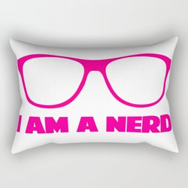I AM A NERD Rectangular Pillow
