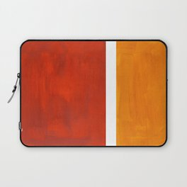 Burnt Orange Yellow Ochre Mid Century Modern Abstract Minimalist Rothko Color Field Squares Laptop Sleeve