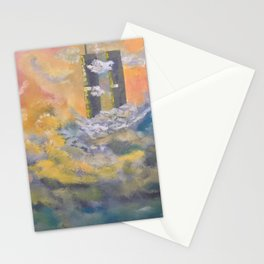 Twin Towers rebuilt in Heaven Stationery Cards