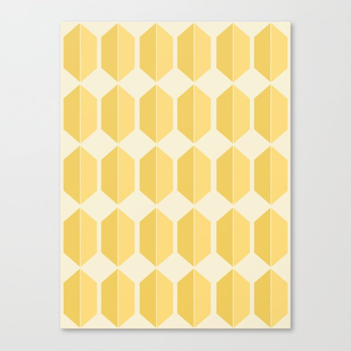 Zola Hexagon Pattern - Golden Spell Canvas Print
