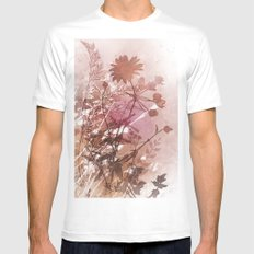 Botanical 2 MEDIUM Mens Fitted Tee White