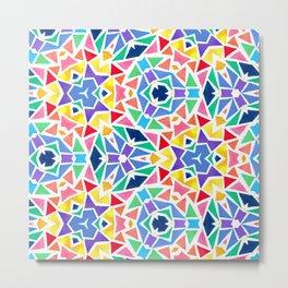 Stone Colorful Mosaic Metal Print