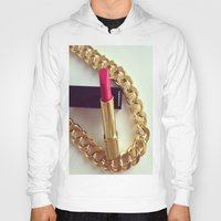 lipstick Hoodies featuring LIPSTICK by I Love Decor