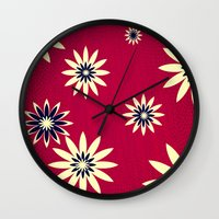 daisies Wall Clocks featuring Daisies by Armin