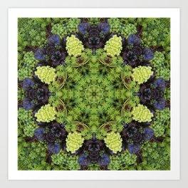 Filigree Foliage Kaleidoscope Art Print