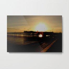 sundown at the pier Metal Print
