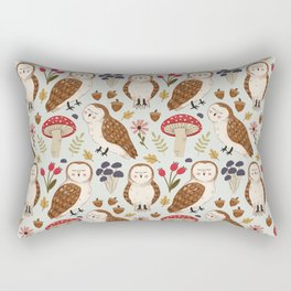 Woodland Owls Pattern Rectangular Pillow