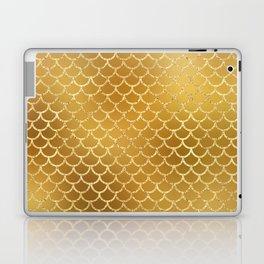 Elegant, Bling Gold Mermaid Scale Pattern Laptop & iPad Skin