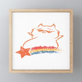 Rainbow  Feline Purr Claws Arrogant Collection Dope Pet Meow Cat T-shirt Design Animal Purr Lovers Framed Mini Art Print