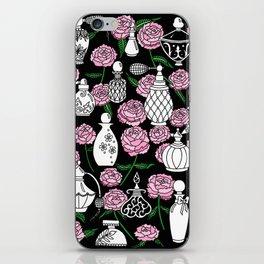 Perfume and Peonies Black and White iPhone Skin