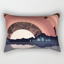 Forest Night Reflection Rectangular Pillow