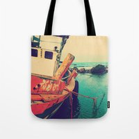 boat Tote Bags featuring Boat by AJAN