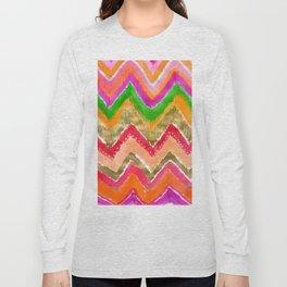 Shocking Pink & Gold Ikat Long Sleeve T-shirt