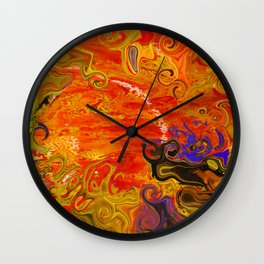 Orange Emotion Wall Clock