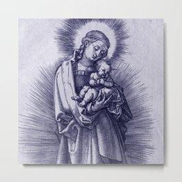 """Albrecht Dürer """"The Virgin with Hairband on a Crescent Moon"""" Metal Print"""