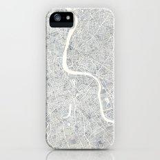 City Map London watercolor map iPhone SE Slim Case