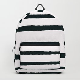 Abstract geometrical hand painted brushstrokes stripes Backpack