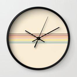 Colorful Fine Line Retro Stripes Wall Clock