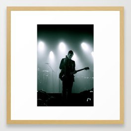 Paul Banks / Interpol at Terminal 5 New York City B&W Framed Art Print