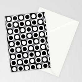 Geometric Pattern 193 (black gray circles) Stationery Cards