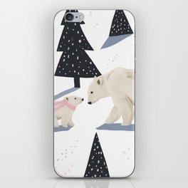 Polar Bear Christmas iPhone Skin