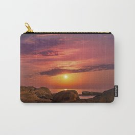 """Magical landscape with clouds and the moon going up in the sky in """"La Costa Brava, Spain"""" Carry-All Pouch"""